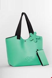 Τσάντα παραλίας Lady Etna πράσινη