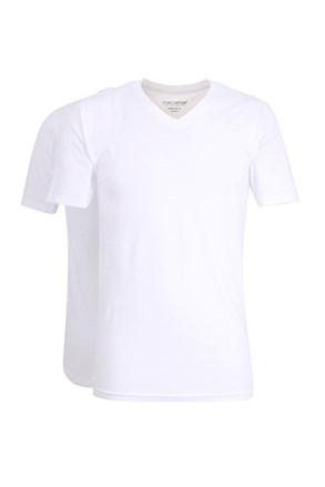 2pack ανδρικά μπλουζάκια Slim White