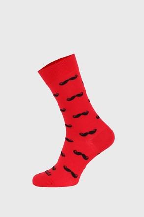Κάλτσες Fusakle Μουστάκι κόκκινες