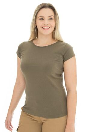 Γυναικεία κοντομάνικη μπλούζα Bushman Natalie II λαδί