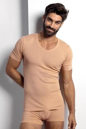 Μπλουζάκι nude κάτω από το πουκάμισο με πρόσθετα για τον ιδρώτα