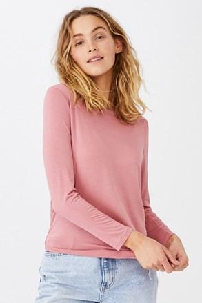 Γυναικεία basic μακρυμάνικη μπλούζα Kathleen ροζ