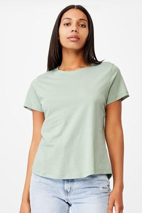 Γυναικεία basic κοντομάνικη μπλούζα Crew πράσινη