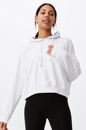 Γυναικεία μπλούζα με κουκούλα Favourite γκρι