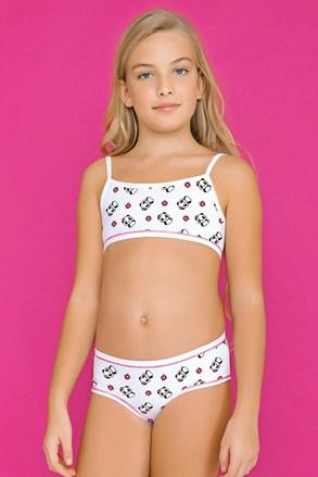 Σύνολο για κορίτσια από σλιπάκι με μπουστάκι White Pandas