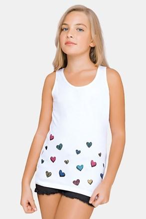 Τοπάκι για κορίτσια White Hearts