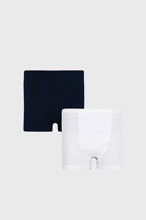 2 PACK μπλε με λευκό μποξεράκια για αγόρια Basic
