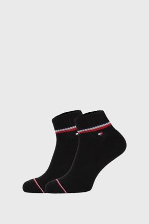 2 PACK μαύρες κάλτσες αστραγάλου Tommy Hilfiger Iconic