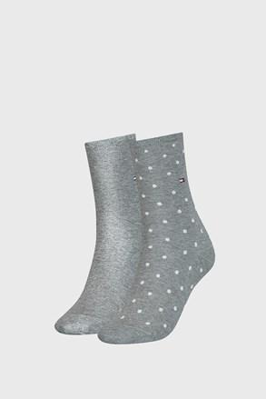 2 PACK γυναικείες κάλτσες Tommy Hilfiger Dot Grey