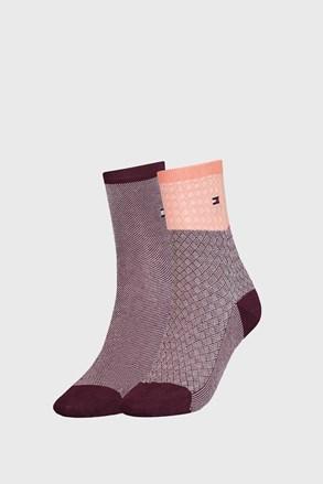 2 PACK γυναικείες κάλτσες Tommy Hilfiger Argyle II
