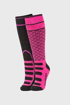 2 PACK κάλτσες μέχρι το γόνατο για κορίτσια Concave ροζ