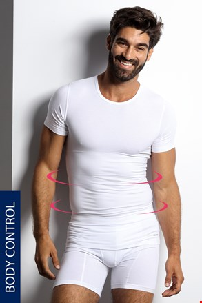 Μπλουζάκι σύσφιξης με στρόγγυλη λαιμόκοψη