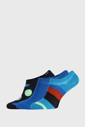 3 PACK κάλτσες Happy Socks Stripes No Show
