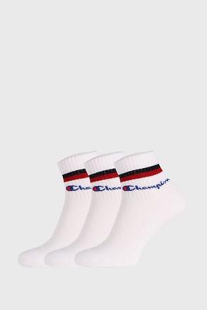 3 PACK λευκές κάλτσες Champion Classic stripes