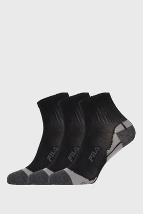 3 PACK μαύρες κάλτσες FILA Multisport