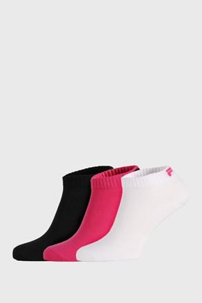 3 PACK χαμηλές κάλτσες FILA Black Fuxia