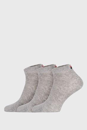 3 PACK γκρι χαμηλές κάλτσες FILA