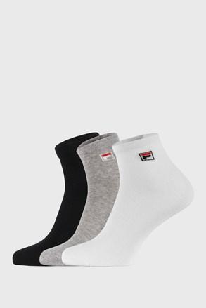 3 PACK τρία χρώματα κάλτσες μέχρι τον αστράγαλο FILA