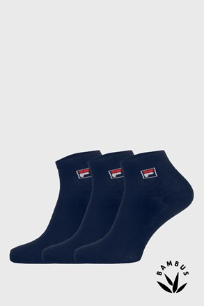 3 PACK σκούρες μπλε κάλτσες μέχρι αστράγαλο FILA