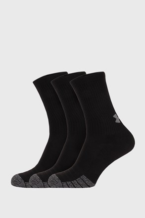 3 PACK ψηλές μαύρες κάλτσες Under Armour