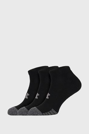 3 PACK μαύρες κάλτσες Under Armour Locut