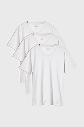 3 PACK λευκά μπλουζάκια Kane