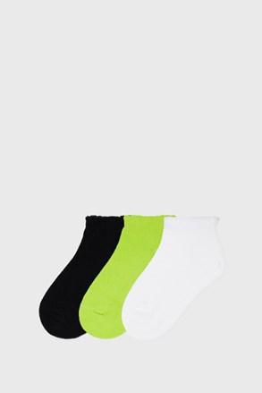 3 PACK κάλτσες για κορίτσια Mayoral Lime κοντές