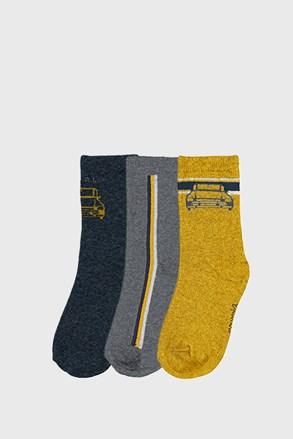 3 PACK κάλτσες για αγόρια Mayoral Cars