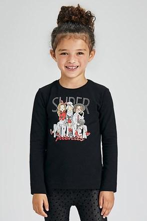 Μπλουζάκι για κορίτσια μακρυμάνικο Mayoral Super