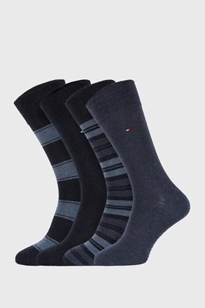 4 PACK μπλε κάλτσες Tommy Hilfiger