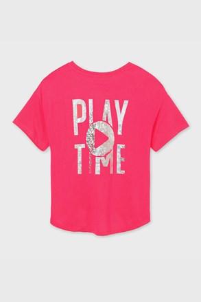 Κοντομάνικη μπλούζα για κορίτσια Mayoral Playtime ροζ