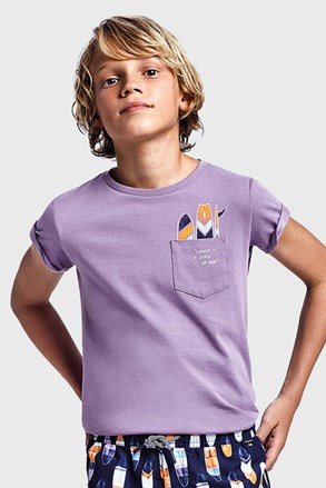 Κοντομάνικη μπλούζα για αγόρια Mayoral Grape μωβ