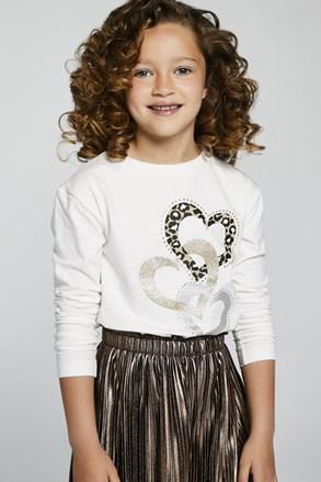 Μπλουζάκι για κορίτσια μακρκυμάνικο Mayoral Hearts