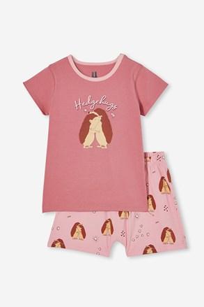 Πιτζάμες για κορίτσια Hedgehog hugs κοντές