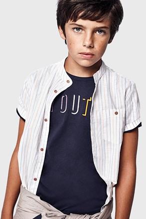 Κοντομάνικη μπλούζα για αγόρια Youth Mayoral μπλε σκούρο