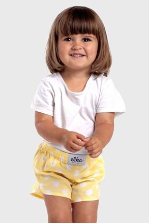 Παιδικό μπόξερ σορτς ELKA LOUNGE Κίτρινο πουά