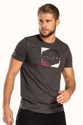 Κοντομάνικη μπλούζα LOAP Bender γκρι σκούρο