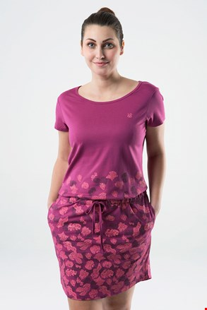 Γυναικείο φόρεμα LOAP Asmen ροζ σκούρο