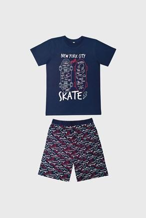Πιτζάμα για αγόρια Skate μπλε σκούρο