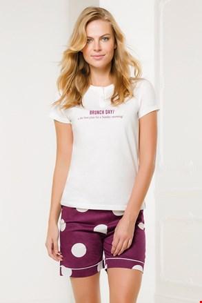 Γυναικείο λευκό με ροζ σύνολο Brunch Day