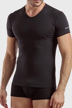 Ανδρικό μπλουζάκι V neck μαύρο