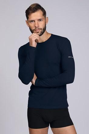 Σκούρο μπλε μπλουζάκι με μακρύ μανίκι