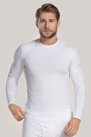 Λευκό μπλουζάκι με μακρύ μανίκι