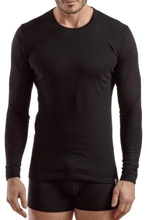 Ανδρικό μπλουζάκι με μακρύ μανίκι 1204 μαύρο