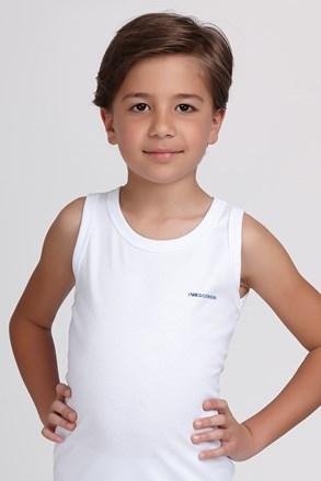 Βαμβακερό φανελάκι για αγόρια E. Coveri λευκό