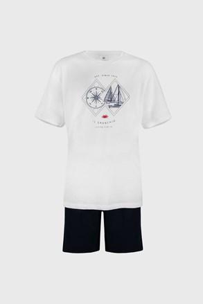 Λευκή πιτζάμα Sailing PLUS SIZE