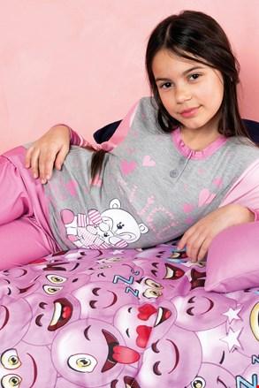 Πυτζάμες για κορίτσια Buongiorno ροζ