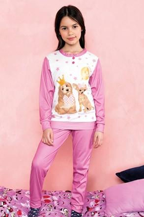Πυτζάμες για κορίτσια Hallo ροζ