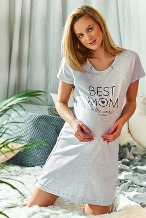 Νυχτικό μητρότητας θηλασμού Best Mom In The World γκρι