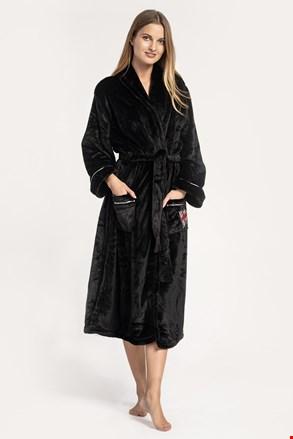 Γυναικεία ρόμπα DKNY Signature robe μαύρη